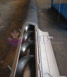 Шнековый транспортер в трубе