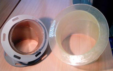 Футеровка самотечного оборудования полиуретаном