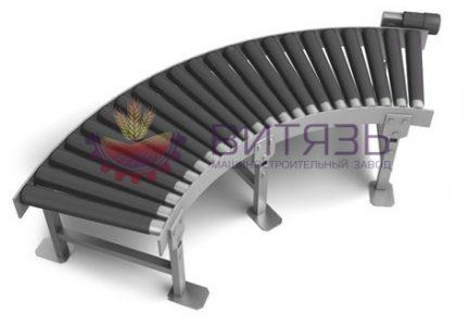 Поворотный роликовый конвейер для склада Витязь